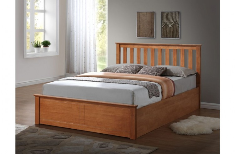 Birlea Phoenix 4ft Small Double Oak Ottoman Lift Wooden Bed Frame
