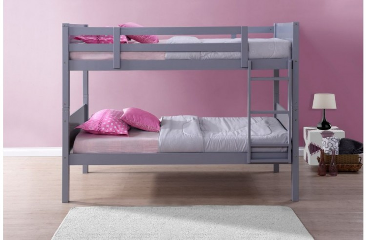 Birlea Dakota 3ft Single Grey Wooden Bunk Bed By Birlea