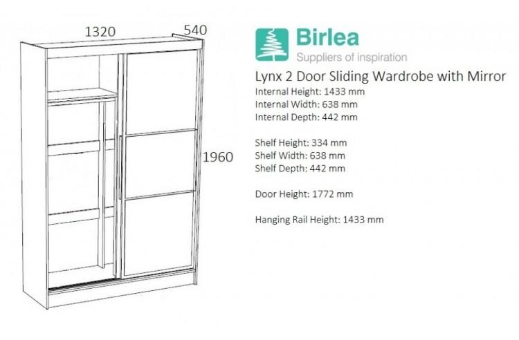 ... Sliding Door Wardrobe With Mirror Birlea ...