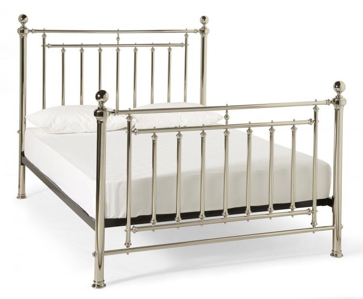 Serene Solomon 6ft Super King Size Nickel Metal Bed Frame