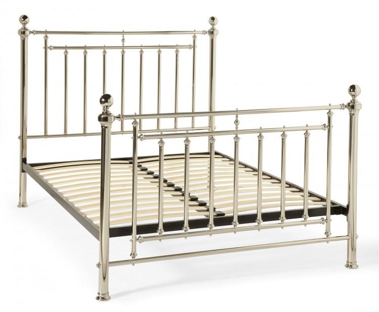 Serene Solomon 6ft Super King Size Nickel Metal Bed Frame By Serene