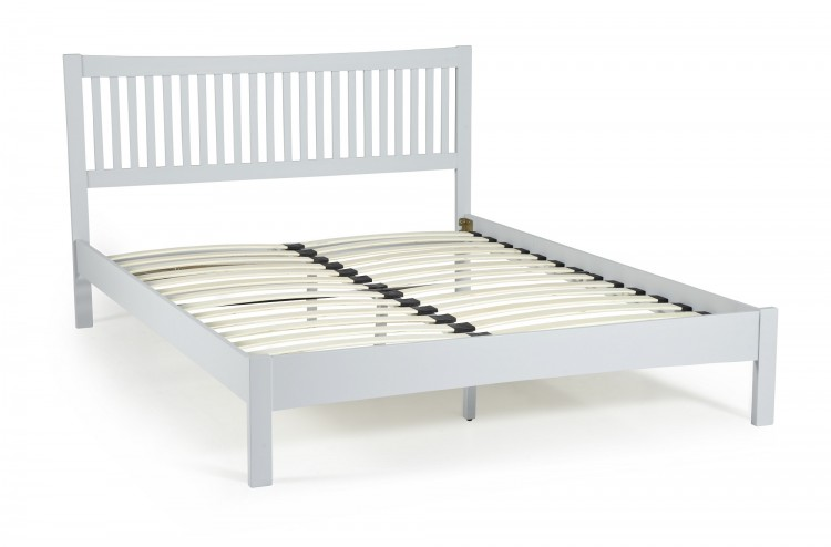 grey 4ft small double wooden bed frame serene