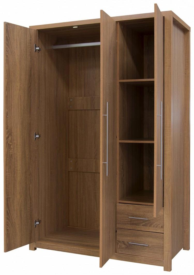 Gfw Havana 3 Door Oak Finish Wardrobe By Gfw