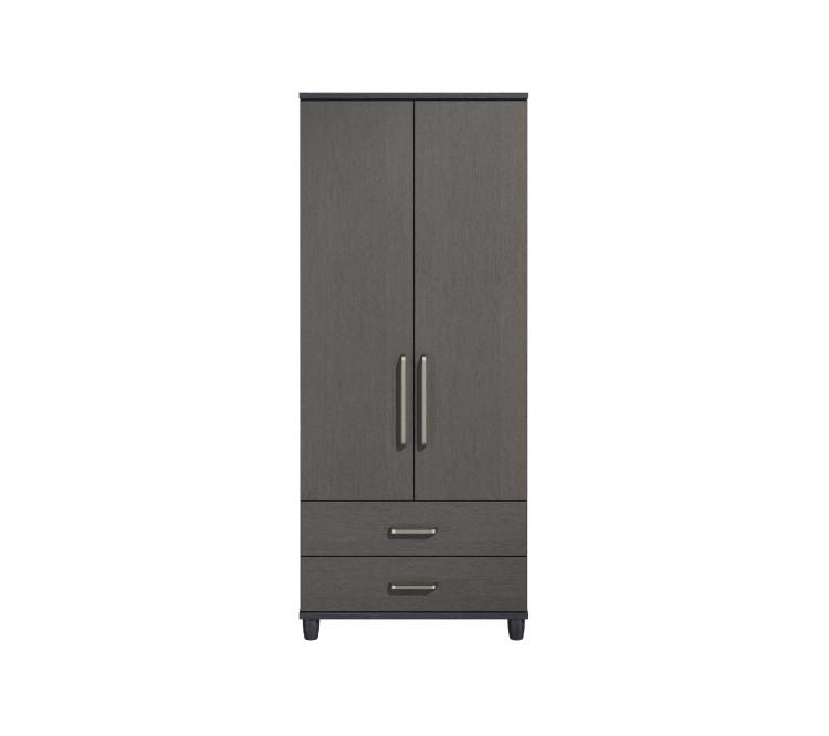 kt deco black and graphite 2 door gents wardrobe by kt