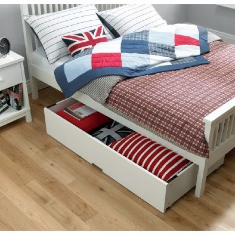 bentley designs atlanta white underbed drawer by bentley designs