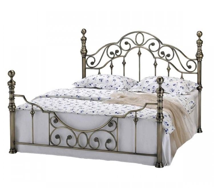 Sleep Design Canterbury 4ft6 Double Brass Metal Bed Frame by Sleep ...