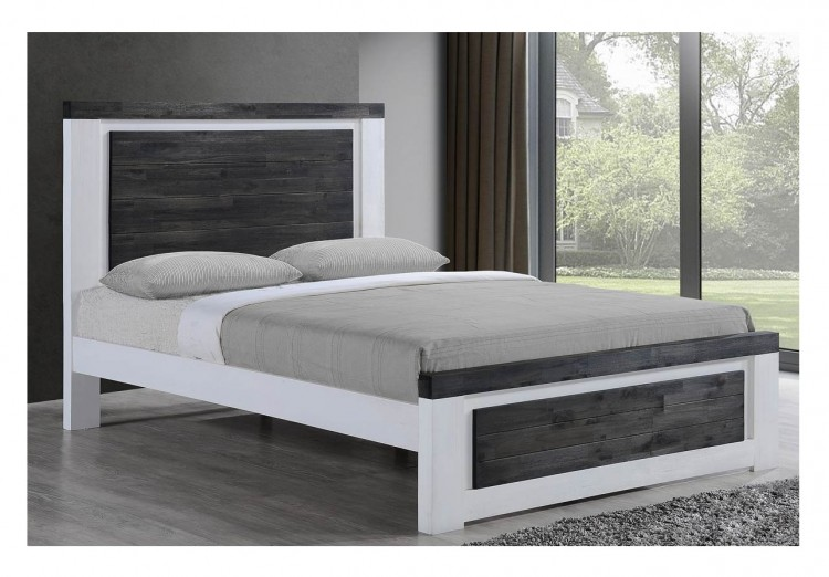 Sleep Design Chelford 4ft6 Double White And Ash Grey Wooden Bed