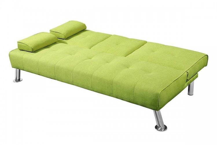 sleep design new york green fabric sofa bed by sleep design