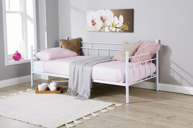 Gfw Arizona 3ft Single White Metal Day Beds