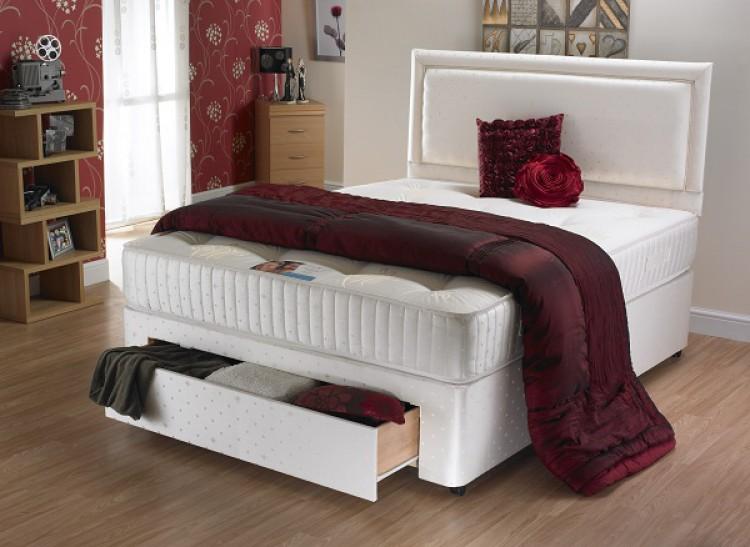 La romantica charlotte 4ft small double 1000 pocket sprung for 4ft pocket sprung divan beds