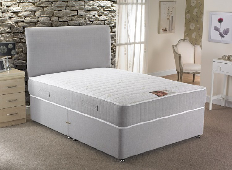 La romantica florence 4ft small double 1000 pocket with for Double divan bed with pocket sprung mattress