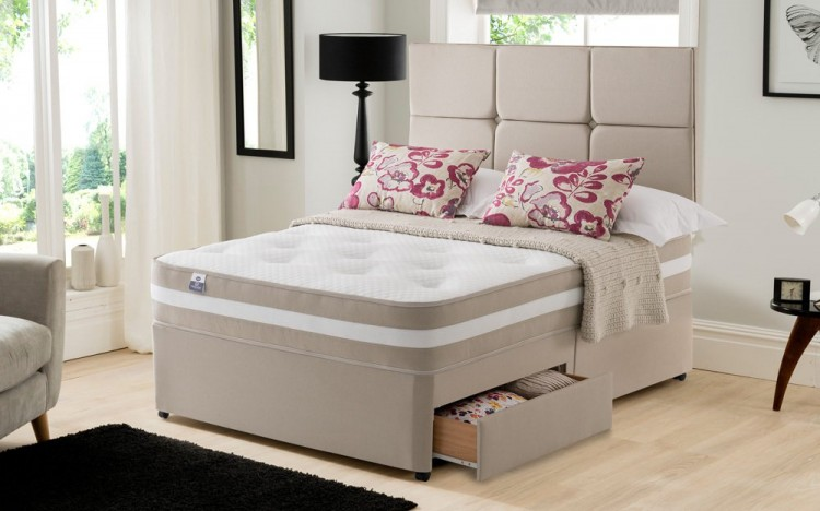 Silentnight torino 4ft6 double 1000 mirapocket memory for 4 6 divan beds
