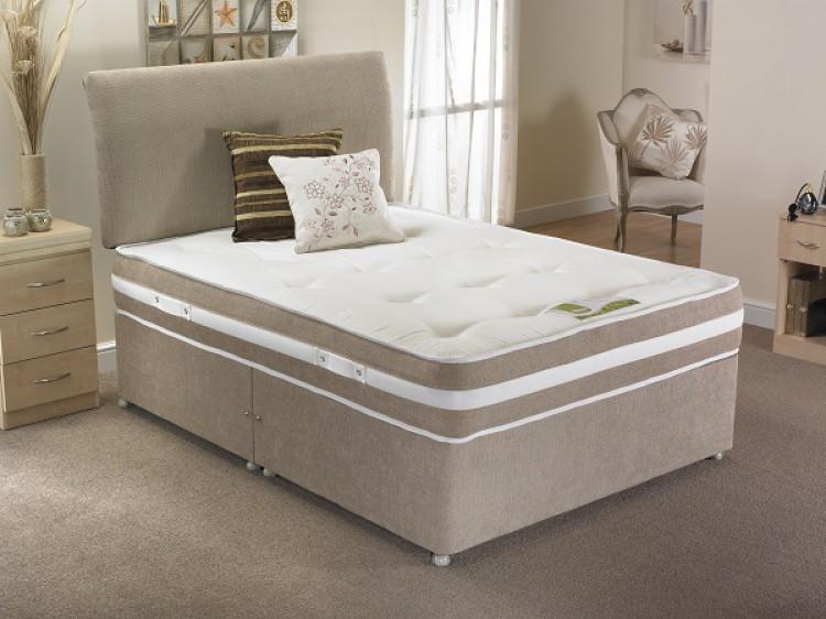 La Romantica Madrid 3ft Single 1000 Pocket And Memory Divan Bed By La Romantica