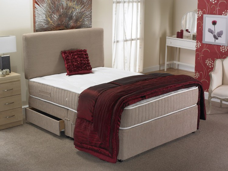 La Romantica Milan 3ft Single 1500 Pocket Sprung Divan Bed By La Romantica
