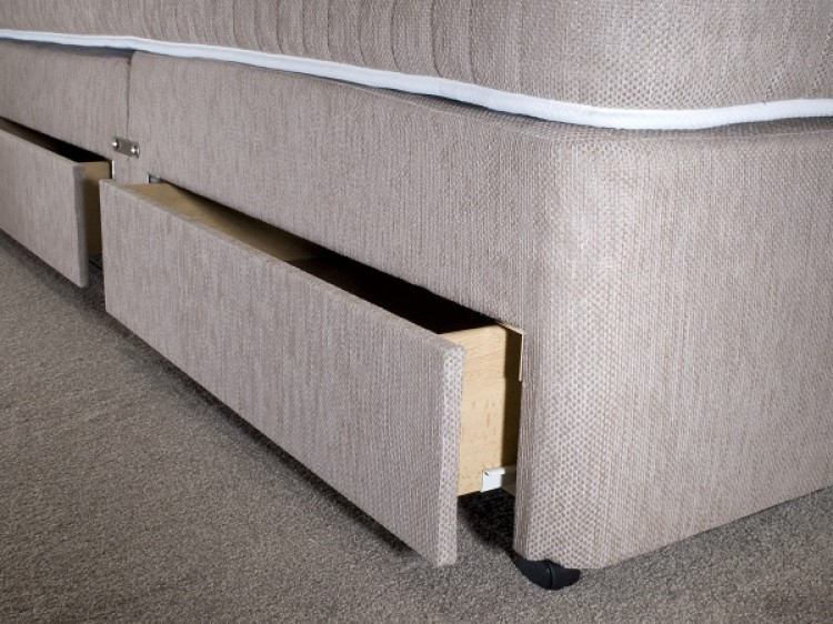 La romantica milan 3ft single 1500 pocket sprung divan bed for Single divan bed with pocket sprung mattress