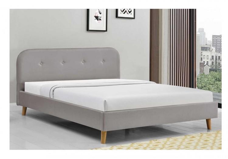 Sleep Design Woburn 5ft Kingsize Grey Fabric Bed Frame by Sleep Design