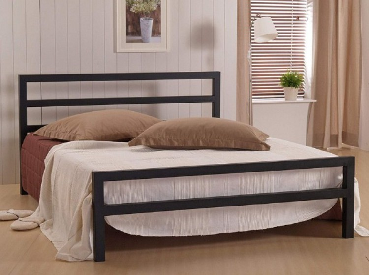d0baf2c46b97 Time Living City Block 4ft Small Double Black Metal Bed Frame by ...