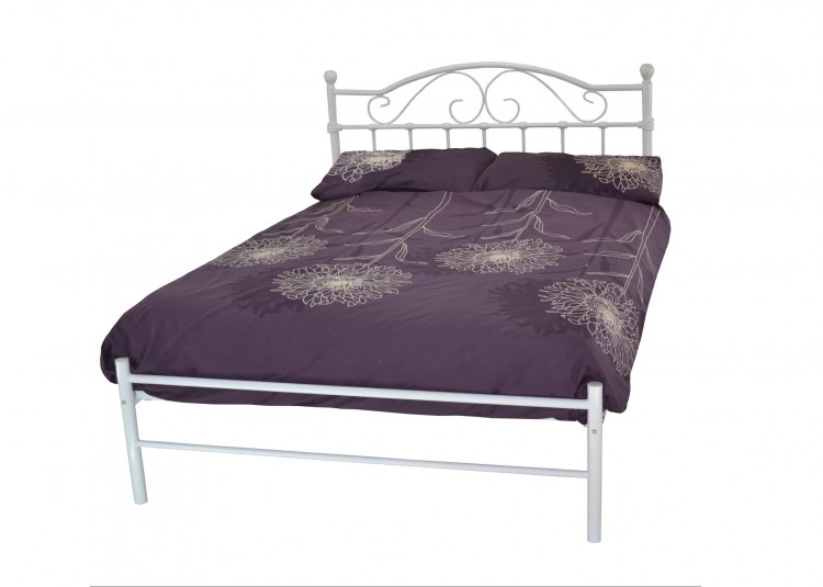 Metal Beds Sussex 5ft Kingsize White Metal Bed Frame By Metal Beds Ltd