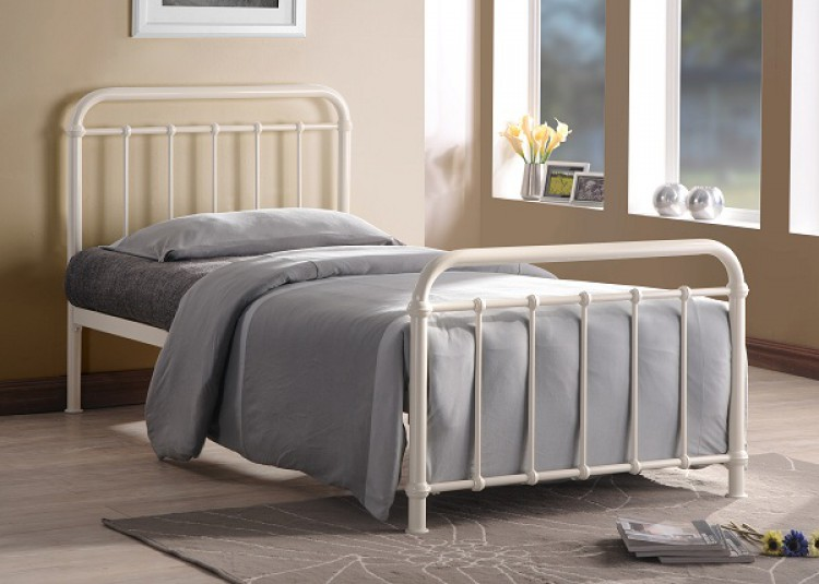 Time Living Miami 3ft Single Ivory Metal Bed Frame by Time Living