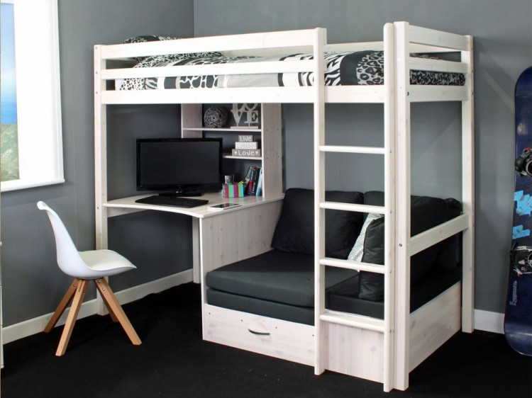 Thuka Hit 8 Childrens High Sleeper Bed With Desk And Chairbed