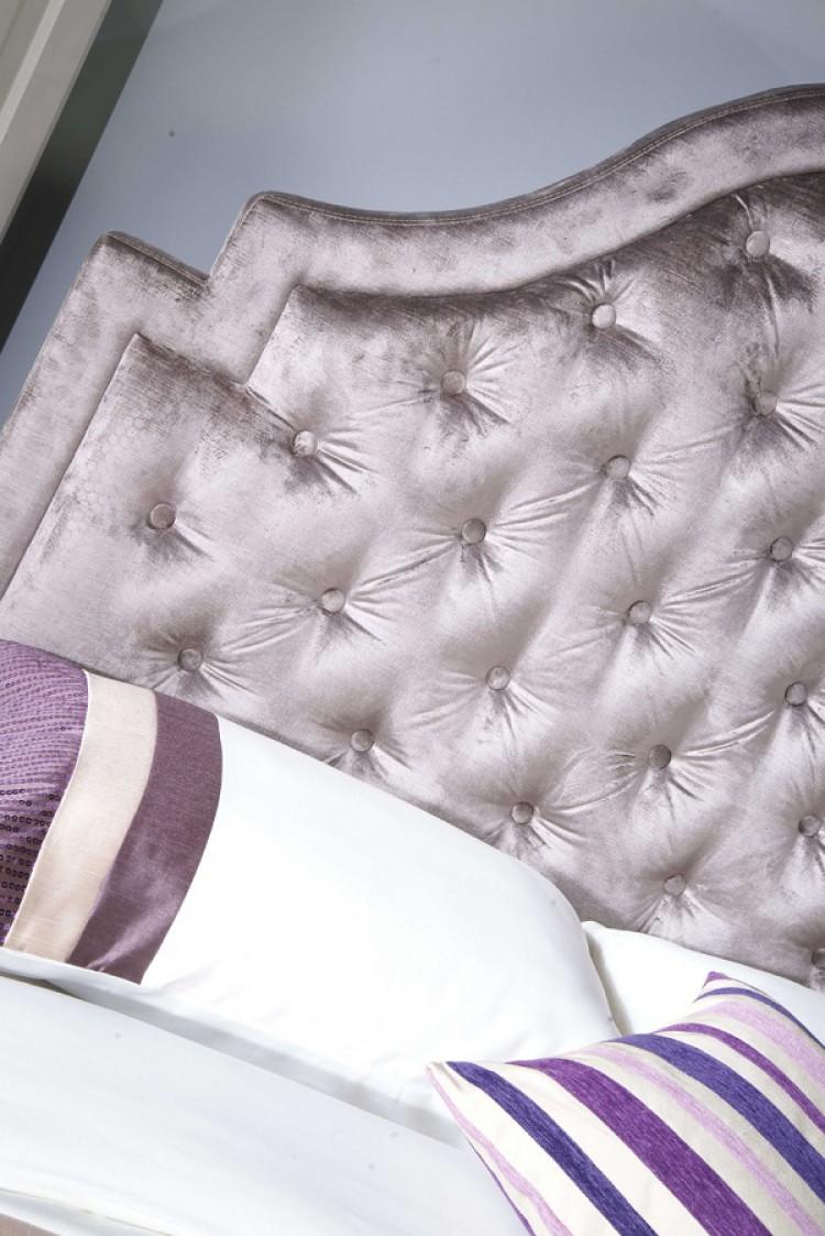 Limelight Charon 5ft Kingsize Mauve Velvet Fabric Bed Frame by ...