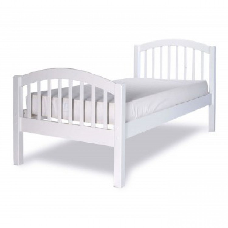 White Single Bed Frame 750 x 750