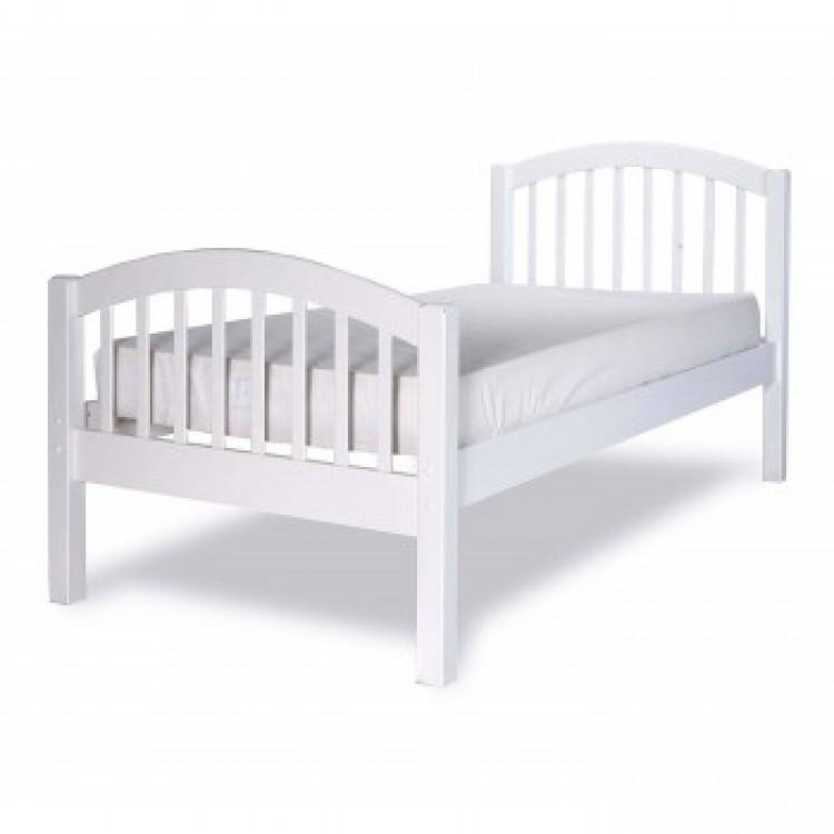 White Single Bed Frame 750 x 750