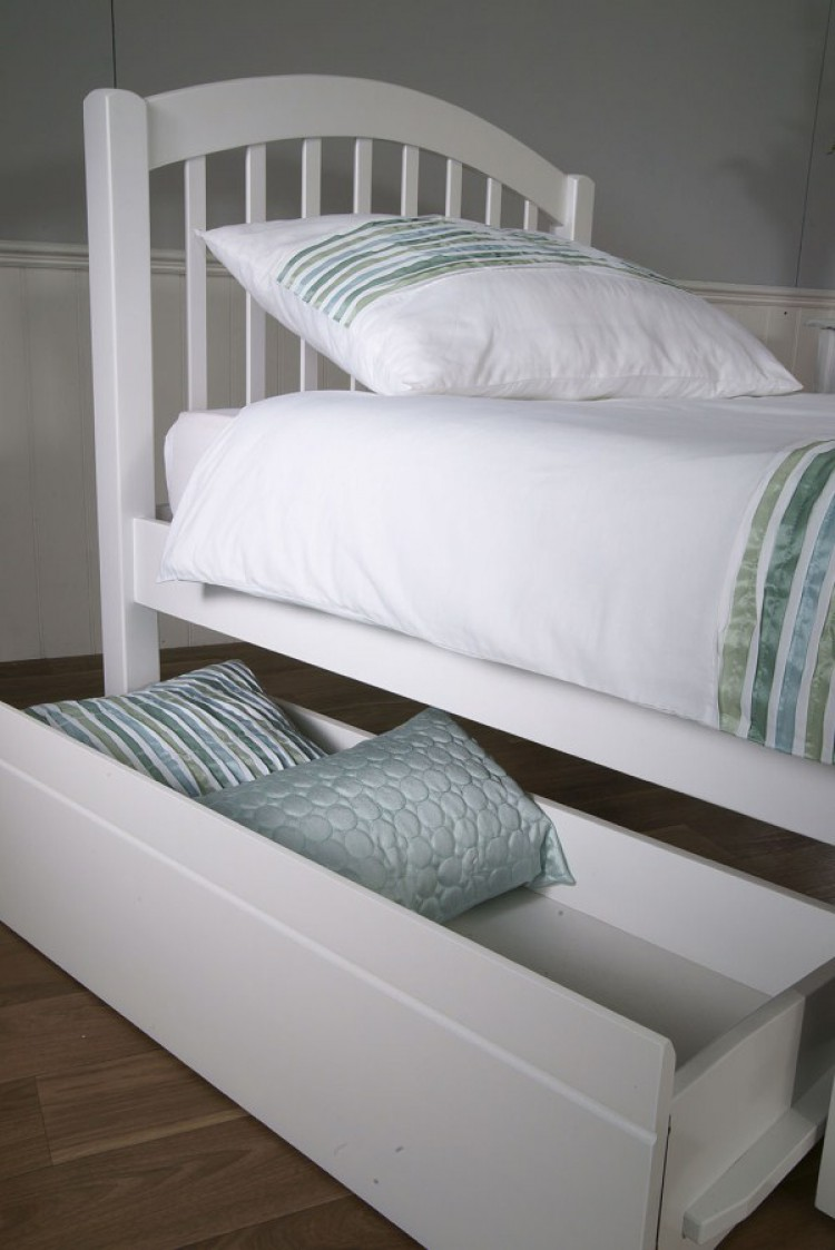 Limelight Despina 3ft single White Wooden Bed Frame with Under Bed ...