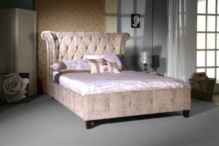 Limelight Epsilon 4ft6 Double Mink Velvet Bed Frame By