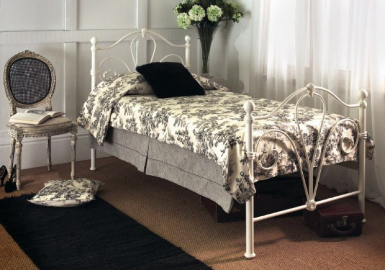 Limelight Nimbus 4ft Small Double Ivory Metal Bed Frame by Limelight ...