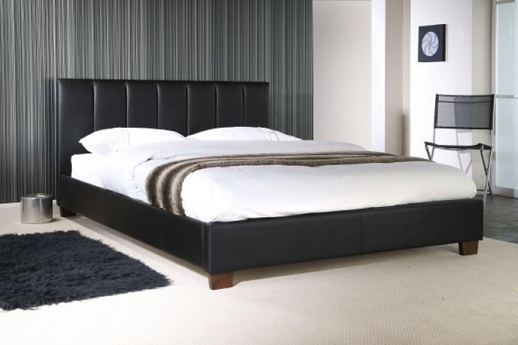 Limelight Pulsar Black 3ft Single Faux Leather Bed Frame