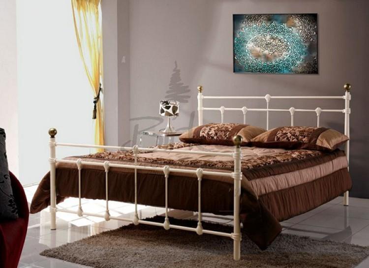 Birlea Atlas 4ft Small Double Cream Metal Bed Frame By Birlea