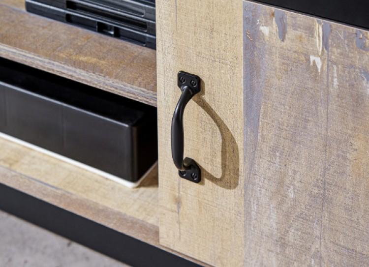 GFW Limited BOSTON 2 DOOR TV UNIT GREY