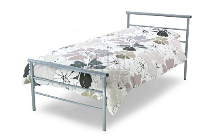 Metal Beds Contract 3ft (90cm) Single Silver Metal Bed Frame by ...