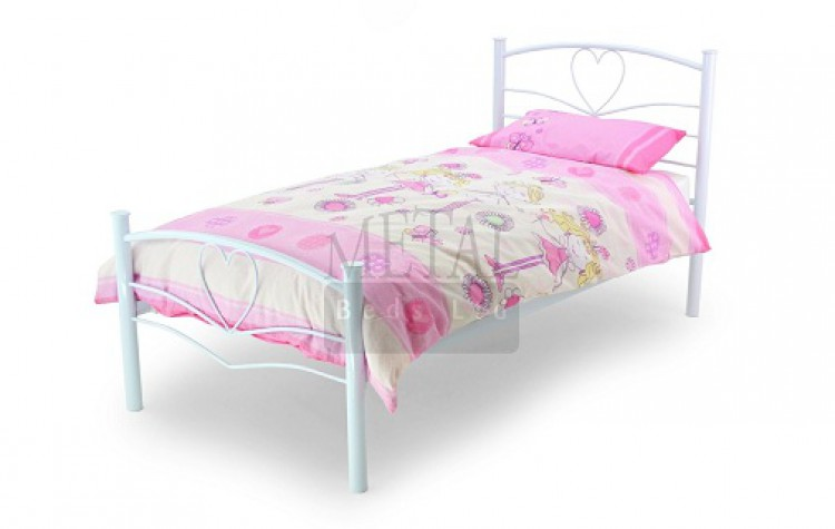 Metal Beds Love 3ft 90cm Single White Bed Frame By Metal Beds Ltd