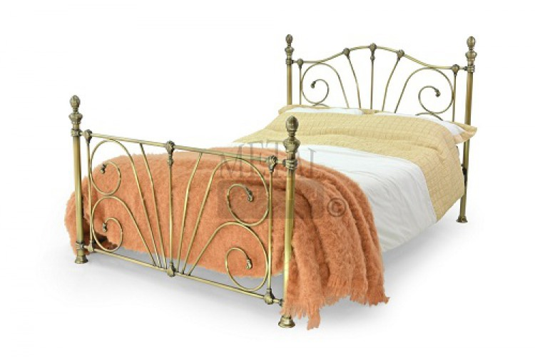 metal beds 4ft 6 135cm double mandalay antique brass bed frame