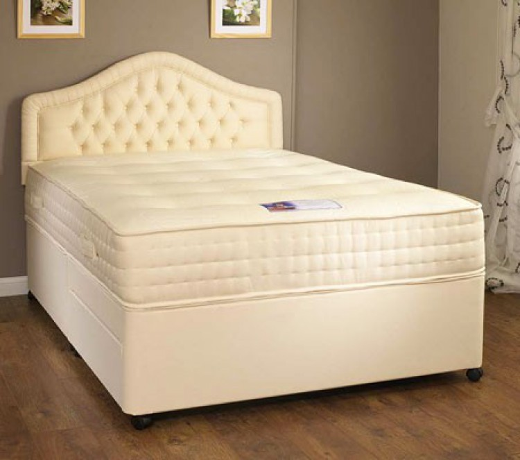 Kozeesleep rembrandt 3ft single 1000 pocket spring divan for Small double divan bed and mattress