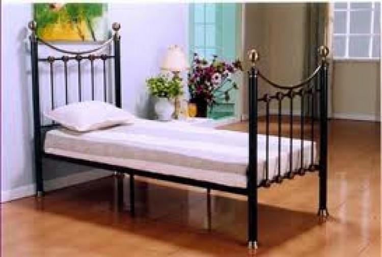 Metal Beds Oxford 3ft (90cm) Single Black Bed Frame by Metal Beds Ltd