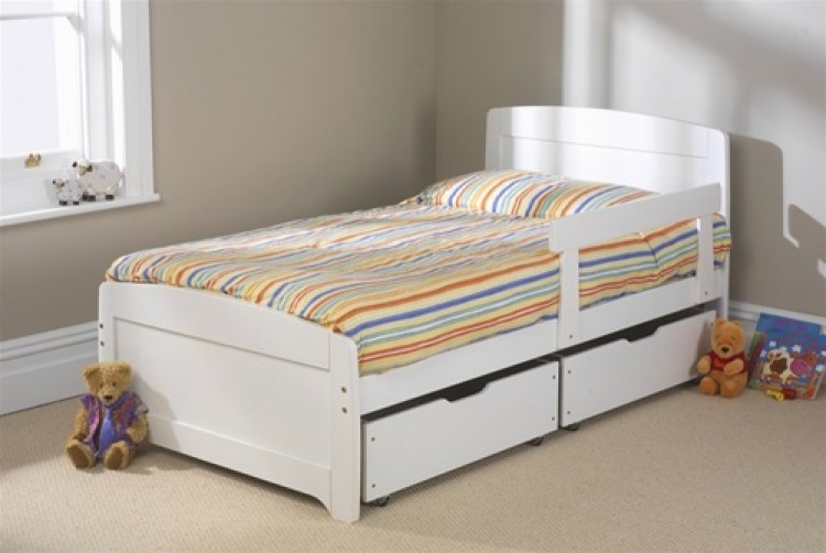 Friendship Mill Rainbow White Bed 3ft Single Wooden Bed