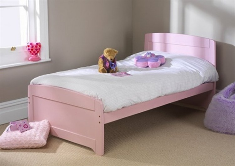 Friendship Mill Rainbow Pink Bed 3ft By 6ft 3 Standard Small Single Pine  Wooden Bed Frame