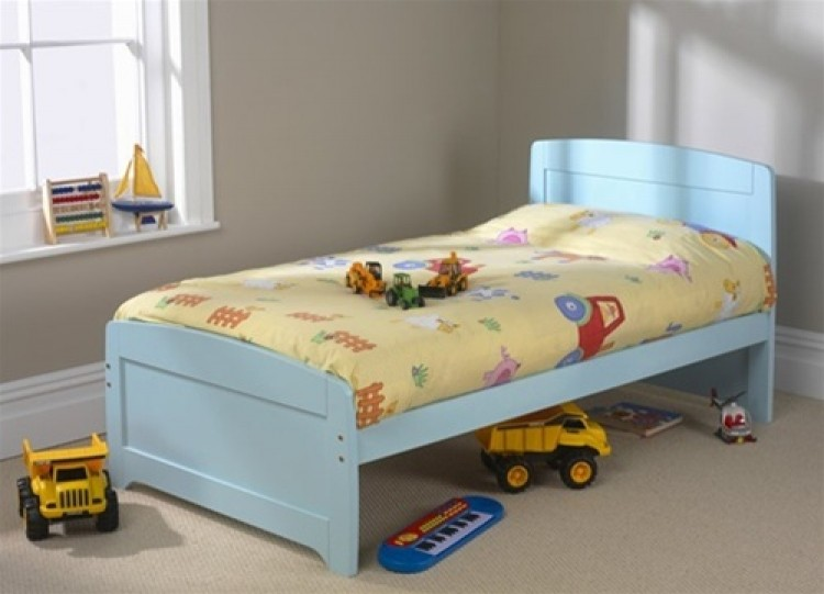 Friendship Mill Rainbow Blue 3ft By 5ft 9 SHORT Single Pine Wooden Bed Frame