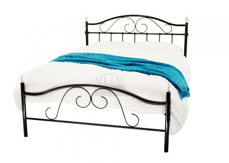 Metal Beds 4ft 6 135cm Double Sussex Crystal Black Bed Frame