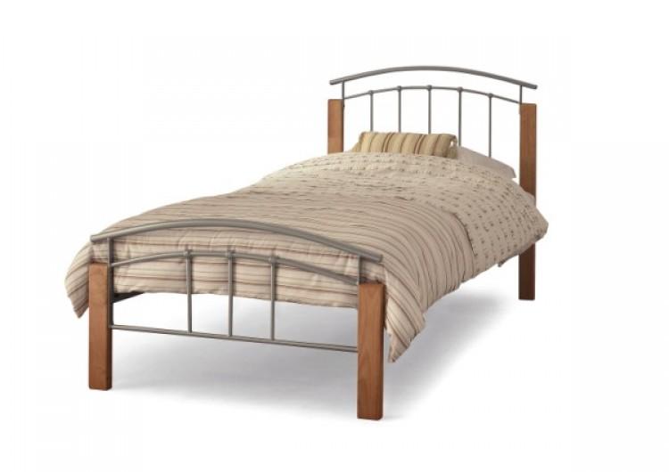 Serene Tetras Ft Single Silver Metal Bed Frame By Serene Furnishings