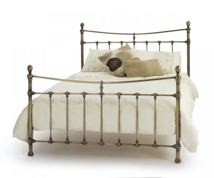 Serene Olivia 5ft Kingsize Antique Brass Metal Bed Frame by Serene ...