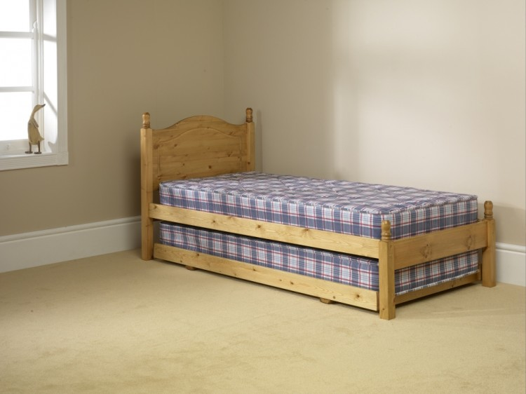 Friendship Mill 2ft6 Small Single Pine Wooden Guest Bed Frame By