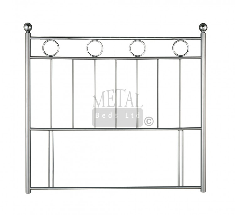 Metal Beds London 3ft Single Silver And Chrome Headboard