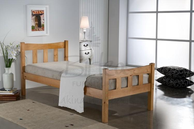 Birlea Miami 3ft Single Pine Wooden Bed Frame