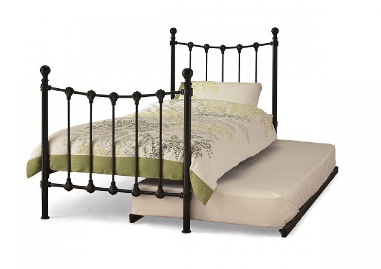 Serene Marseilles 3ft Single Black Metal Guest Bed Frame