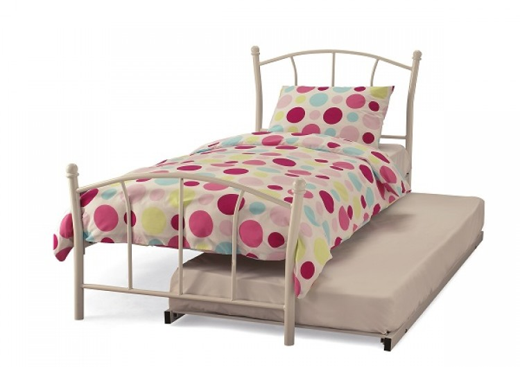 Serene Penny 3ft Single White Metal Guest Bed Frame By