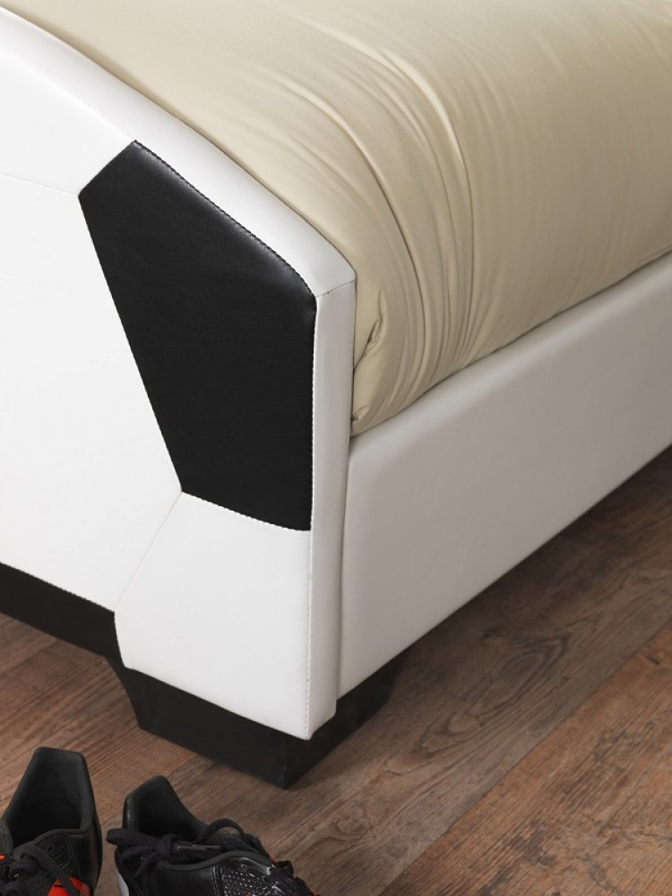Serene Pallone 3ft Single Faux Leather Football Bed By